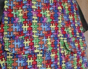 CLEARANCE! Size XS Weighted Vest for Child w/Special Needs and Sensory Issues. Autism Awareness Print.