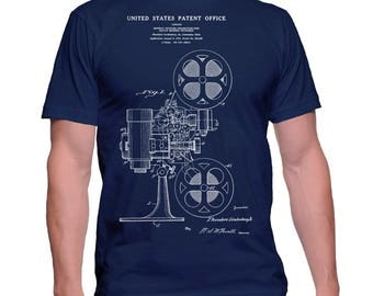 Movie Projector Patent Shirt, Movie T-Shirt, Vintage Movie t Shirt, Film Projector Tee, Cinema Projector tshirt Director Gift, Operator Gift