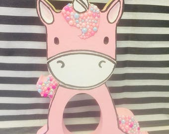 Freestanding Unicorn Kinder Egg Holder, Unicorn, Pretty, Embellished, Pretty,Kinder egg, Easter, Gift