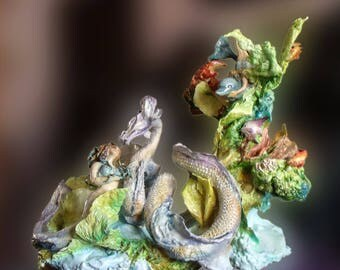 mermaind with sea dragon