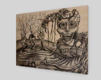 Metaphore - Wood Print