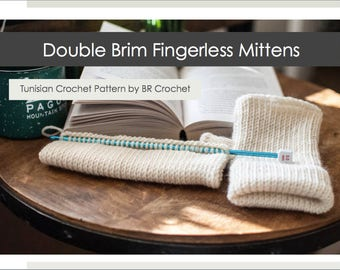 Double Brim Fingerless Mitten Pattern