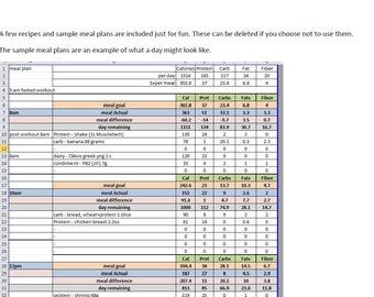 Macro Tracker, Food Journal, No Calculating Needed, Weekly Macros, Sample  Menu Plans  Food Journal Sample