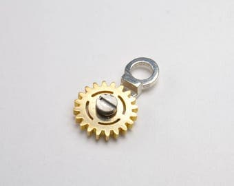 Gear Necklace Rotating Steampunk