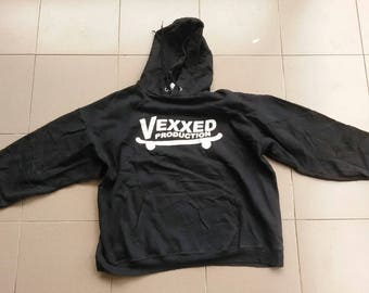 Vintage 90s Sweatshirt Vexxed Production..Adult XL..Big Logo Spell Out..