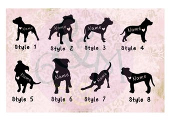 Dog Car Decal - Pit Bull Dog Car Decal, Pitbull Dog Car Decal, Dog Car Window Sticker, Dog Car Window Decal, Pitbull Dog Sticker, Pit Bull