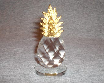 Pineapple Large - miniature collectible crystal figurine