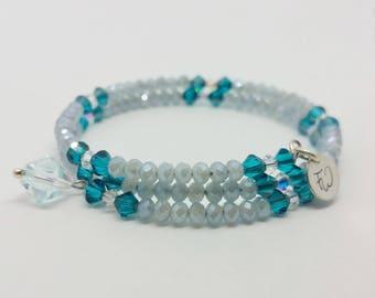 Swarosvki crystal bracelet. Faceted crystal.
