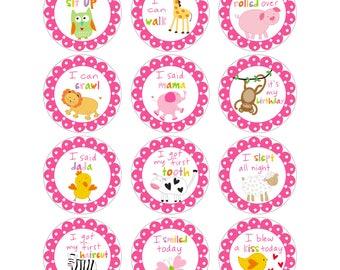 Sandra Magsamen Personalized Baby Girl Sticker Set