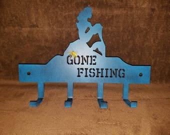 Gone Fishing Keychain rack