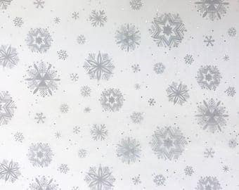 "Diamond Snowflakes Christmas Tissue Paper Gift Wrapping Flower Making 20""x30"""