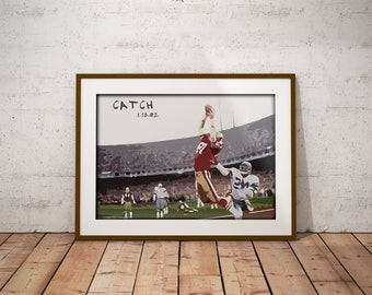 The Catch - Dwight Clark - San Francisco 49ers - Dallas Cowboys - NFC Championship - Poster - NFL - Art - Wall decor