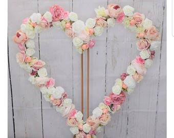 Heart Shaped Flower Selfie Frame