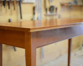 cherry wood console table country minimalist console table farmhouse sofa table handmade console