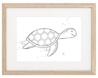Turtle Hand Painted