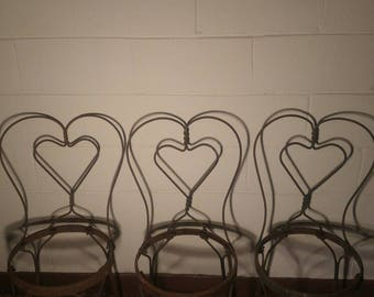 50% OFF Antique Ice Cream Parlor Chairs (3)