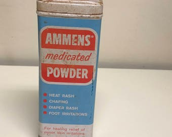 Ammens Medicated Powder Tin, Bathroom Decor
