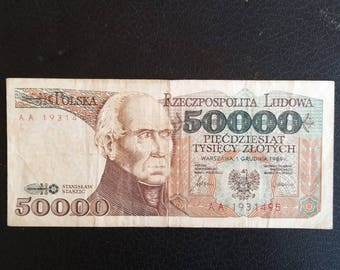 Poland of 50,000 Zlotych banknote