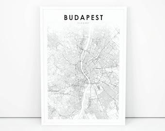 Hungary Map Etsy - Hungary map