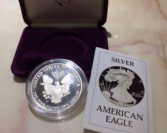 1986 Liberty silver One Dollar coin