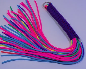 Purple Handled rainbow Flogger