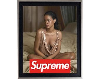 Supreme x Rihanna Poster or Art Print