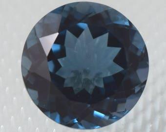 NATURAL A++ QUALITY London Blue Topaz 9MM Round Cut Loose Gemstone BT-01