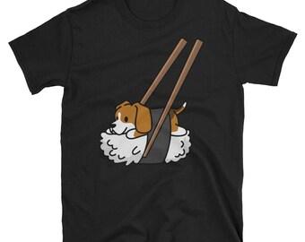 Funny Sushi Beagle T-Shirt, Cute Beagle Gifts, Beagle Dog Shirt