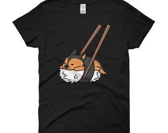 Sushi German Shepherd Women's short sleeve t-shirt