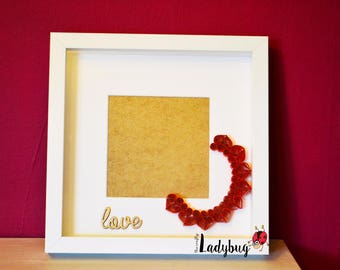 Personalised Quilled Love Frame, Quilling Box Frame