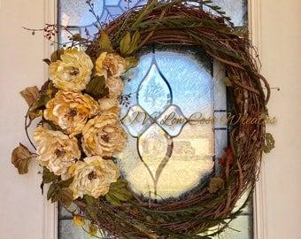 Beige floral wreath
