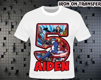 Superhero Iron On Transfer , Superhero Birthday Shirt DIY , Superhero Shirt DIY , Iron On Transfer , Digital File