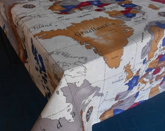 "8 Seater rectangular tablecloth, ""Terre del Mondo"""