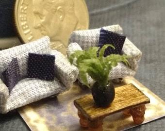 1/144 scale handmade fern in pot 1:144