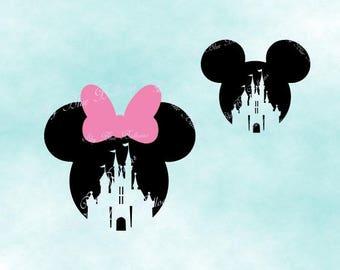 Mickey Castle SVG, Minnie Svg, Disney Castle SVG, Disney Vacation Svg, Mouse Svg, Vinyl Cutting File, Cricut Disney File, Disney Dxf