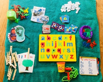 10 Busy Bag Activities for Toddlers and Preschoolers-Includes Shipping