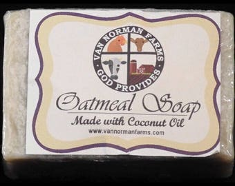 Oatmeal Soap (with Coconut Oil) 5oz.