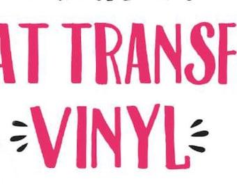 Heat Transfer Vinyl Decal