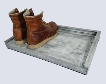 CUSTOM: Boot Or Shoe Tray Made From Premium Concrete   Shoe Tray   Shoe  Storage