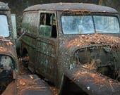 Willys Jeeps in junkyard ...