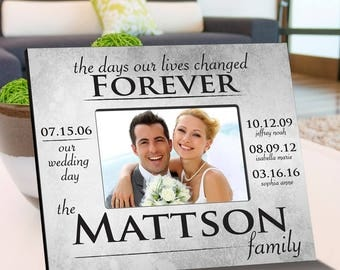 Personalized The Day Our Lives Changed Picture Frame - Couples Photo Frames - Family Picture Frames - Wedding Frames - Anniversary Frames