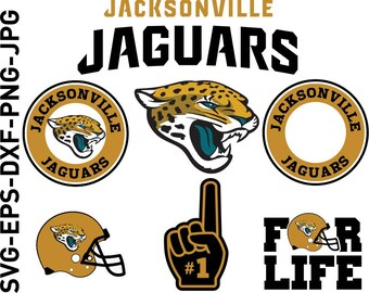Jacksonville Jaguars Nfl,SVG File-png,eps,nfl svg,SVG File for Cameo,Cricut & other electronic cutters Silhouette Cut Files,Cricut Cut Files