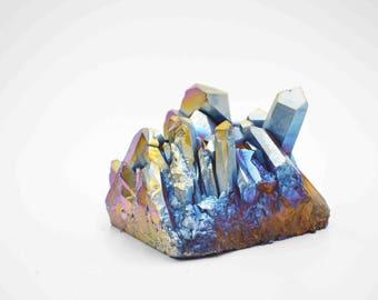 Cobble Creek: Titanium Aura Cluster Aura Quartz Titanium Aura Crystal Titanium Aura Titanium Aura Cluster Rainbow Aura Crystal Quartz