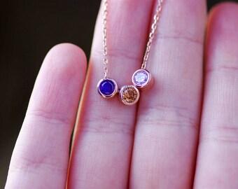 Custom Birthstone Necklace, Multiple Birthstone Necklace, Personalized Necklaces For Mom, Birthstone Necklace For Mom, Necklace For Grandma