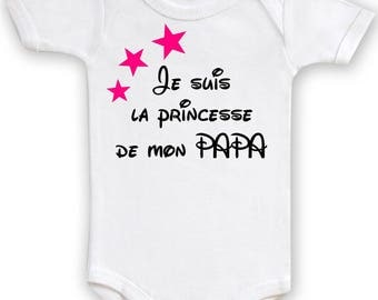 Funny baby Bodysuit I'm my Daddy's Princess