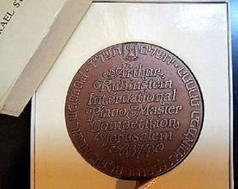 Israel State Medal 1974 Arthur Rubinstein International Piano Master Competition, Collectibles Medals