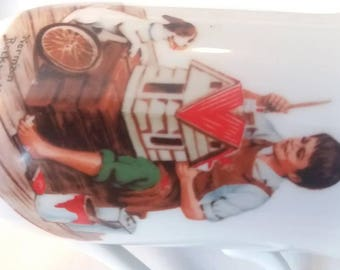 "Norman Rockwell ""A dollhouse for sis"" mug"