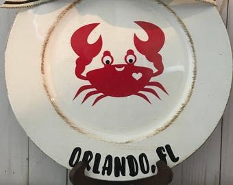 Crab Charger Plate