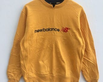 New Balance Sweatshirt Big Logo Embroidery Sweat Medium Size Jumper Pullover Jacket Sweater Shirt Vintage 90's