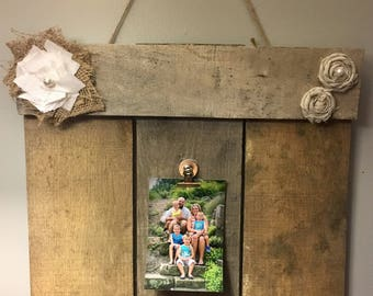 Homemade picture frame